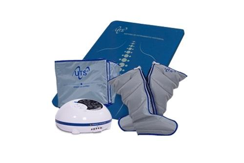 UTS-System, camilla de masaje vertebral y presoterapia